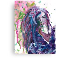 The Stranger - Inspired by Dina Wakley Canvas Print