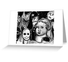 wrong dinner guests Greeting Card