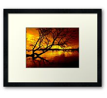"""THE TREE ON THE LAKE"" Framed Print"