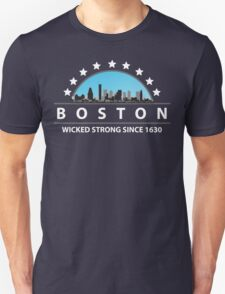 Boston Massachusetts Wicked Strong Since 1630 Unisex T-Shirt