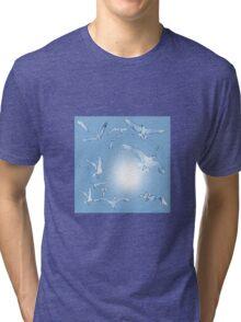 Beach Birds Blue Tri-blend T-Shirt