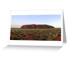 Uluru at Sunrise. Greeting Card
