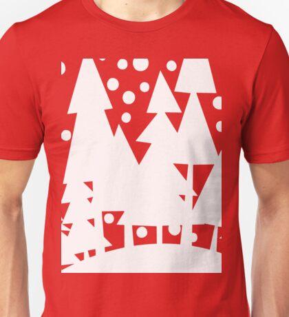 White Christmas Trees Unisex T-Shirt