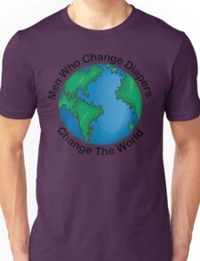 "New Dad Father ""Men Who Change Diapers Change The World"" Father's Day T-Shirt"