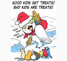 Funny snowy owl santa meme Unisex T-Shirt