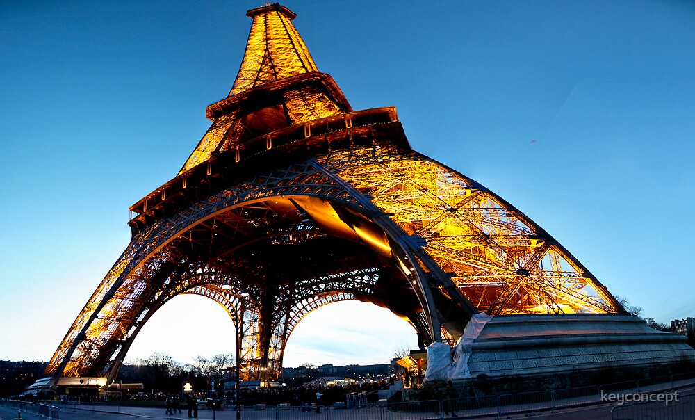 Eiffel Tower at Night by keyconcept