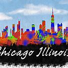 Chicago Illinois Skyline by FamilyT-Shirts
