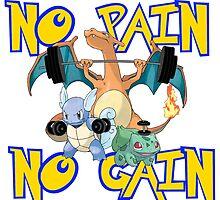 No pain no gain Pokemon by ThugChicken