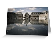 Mirrored Bordelaise Buildings in the Mirror Pond Greeting Card