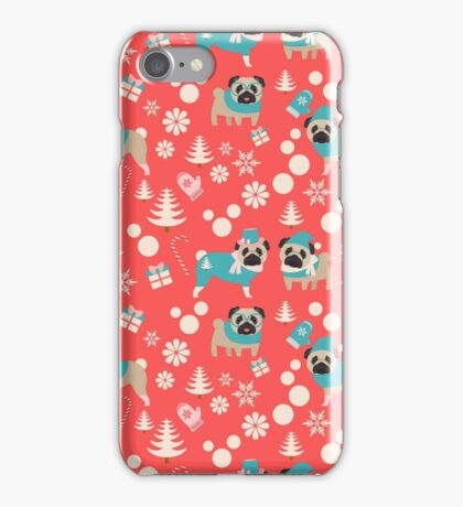 Holiday Pugs in Sweaters iPhone Case/Skin
