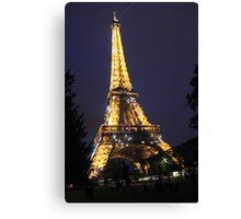 Illuminated Eiffel Canvas Print