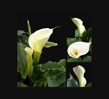 Calla lilies collage Womens Fitted T-Shirt