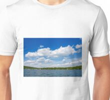 Blue Sky Over Green Pond Unisex T-Shirt