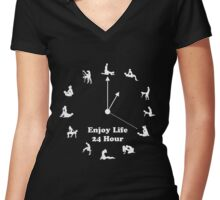 Enjoy Life 24 Hour Women's Fitted V-Neck T-Shirt