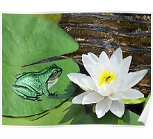 ⊱✿ ✿⊰⊹ ♧ ✿ THIS LILLY PAD IS NOT BIG ENOUGH FOR THE TWO OF US-PILLOWS-TOTE BAG- JOURNAL-BOOKS ECT. ⊱✿ ✿⊰⊹ ♧ ✿ Poster