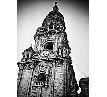 Clock tower, Santiago de compostela Photographic Print