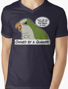 Owned by a green quaker Mens V-Neck T-Shirt