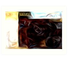 Abstract Colors Oil Painting #7 Art Print