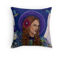 Mary the Imaginative Angel Throw Pillow