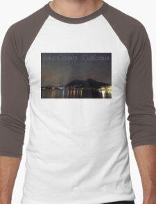 Nighttime Lake County California Men's Baseball ¾ T-Shirt