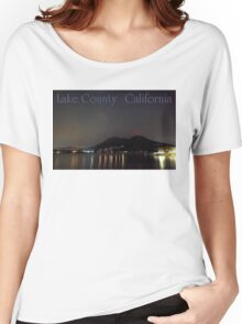 Nighttime Lake County California Women's Relaxed Fit T-Shirt
