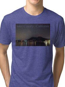 Nighttime Lake County California Tri-blend T-Shirt
