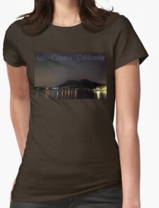 Nighttime Lake County California Womens Fitted T-Shirt