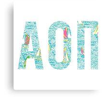 AOII LP Boats Canvas Print