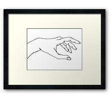 reaching hand Framed Print
