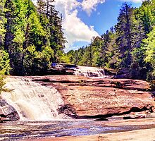 Triple Falls, Dupont Forest by njordphoto