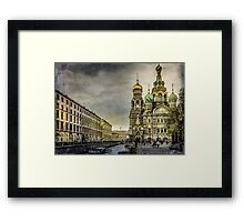 Church of  Savior on Spilled Blood ,Saint-Petersburg Framed Print