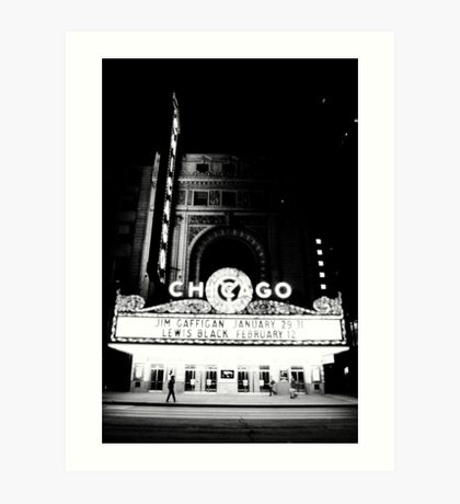 Grayscale Theater Art Print