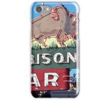 Miles City, Montana - Bison Bar iPhone Case/Skin