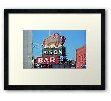 Miles City, Montana - Bison Bar Framed Print