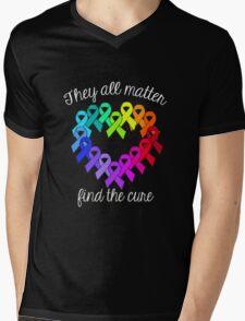 Find The Cure Mens V-Neck T-Shirt