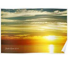 SUNSET - LEUCADIA CALIFORNIA  Poster