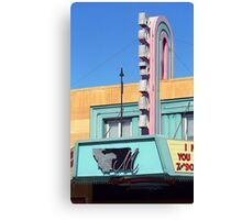 Miles City, Montana - Theater Marquee Canvas Print