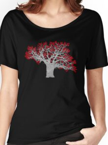 Red Heart Tree Women's Relaxed Fit T-Shirt