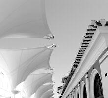 Roofs in Black & White, Algarve Portugal by Aurora Vaz