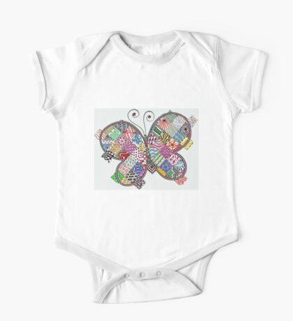 Patchwork Butterfly One Piece - Short Sleeve