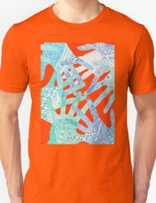 All Hands In- Orange/ Blue T-Shirt