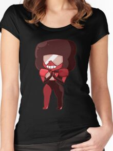 Garnet Smiling Women's Fitted Scoop T-Shirt