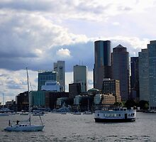 Boston from the the ferry by Terry Banfich