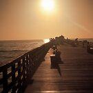 Yellow Dawn - Flagler Pier, Florida by Lori Botelho