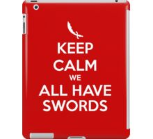 KEEP CALM - We All Have Swords // Aladdin iPad Case/Skin