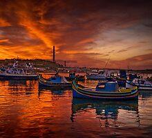 Marsaxlokk Sunrise, Malta by Edwin  Catania