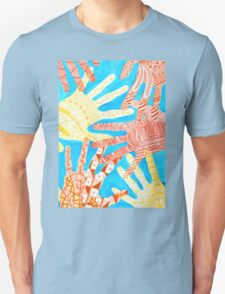 All Hands In- Blue/ Yellow T-Shirt