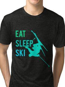 Eat Sleep Ski Tri-blend T-Shirt