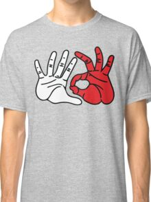 503 Portland Area Code White & Red Classic T-Shirt