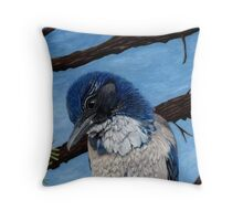 Pretty Western Scrub Jay Bird Throw Pillow